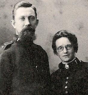 Brudeparet Magnhild Dulin og Gustav Olsen.