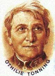 Othilie Tonning, slik hun ble framstilt på et frimerke i 1988.