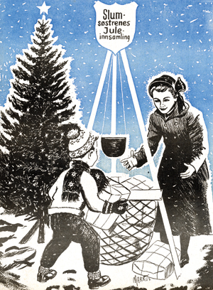 Julegryta, slik den ble presentert på forsiden av Krigsropet rundt 1950.