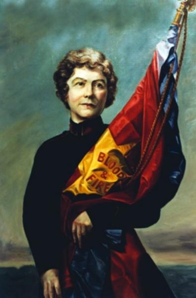 General Evangeline Booth, drapert i Frelsesarmeens flagg
